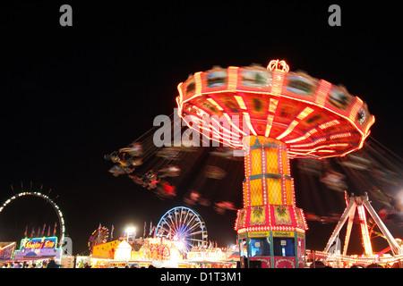 Amusement park marry-go-round ride - Stock Photo