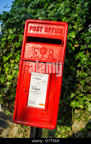 Royal Mail Collection Box in Rural Area - Stock Photo