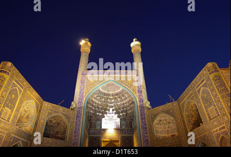 Imam mosque (also called Shah mosque) in Esfahan, Iran - Stock Photo