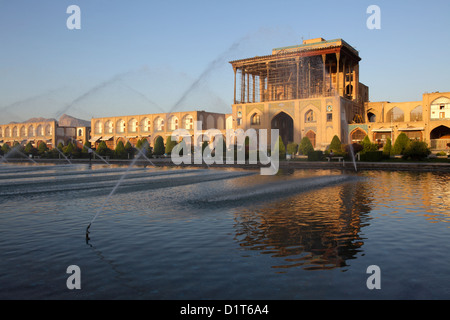 Ali Qapu palace in Naqsh-e Jahan Square, Isfahan, Iran - Stock Photo