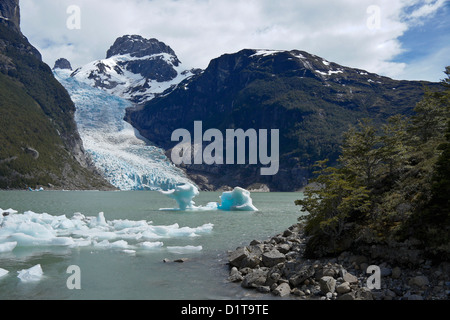 Serrano Glacier, Bernardo O'Higgins National Park, Patagonia, Chile - Stock Photo