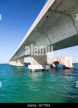 Route 1 Overseas Highway - Old and new bridges, Florida Keys, USA - Stock Photo