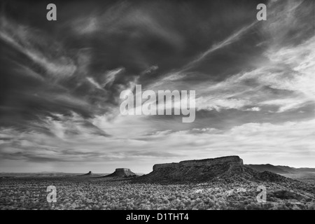 View of Ugab Terraces from Finger Rock in Damarland of Namibia - Stock Photo