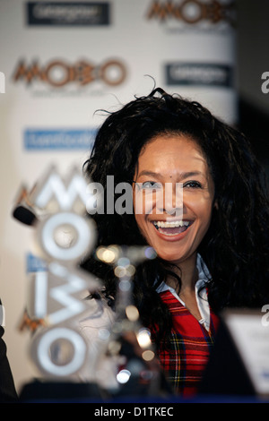 Kanya King announces MOBO awards are coming to Glasgow in 2009.  - Stock Photo