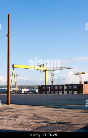 The Titanic Slipway Area by the Titanic Museum in Belfast Northern Ireland United Kingdom UK - Stock Photo