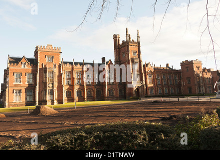 The Famous Lanyon Building at Queen's University in Belfast Northern Ireland United Kingdom UK - Stock Photo