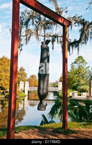 The Travelin Light, author Alison Saar,  Sculpture Garden, New Orleans, Louisiana, USA, North America - Stock Photo