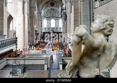 Trier, Germany, the interior of the Trier Cathedral, looking towards the west choir - Stock Photo
