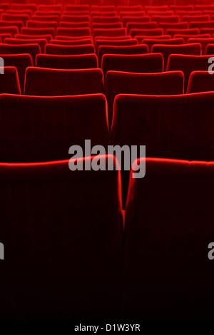 Berlin, Germany, empty seats in a movie theater