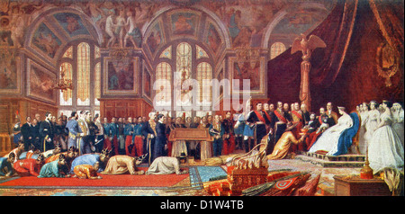 Reception of the Siamese Ambassadors is by French painter and sculptor Jean-Leon Gerome and in the style of Academicism. - Stock Photo