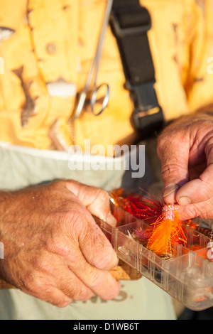 flies for catching surf perch, La Conchita Beach near Carpinteria, California, United States of America - Stock Photo