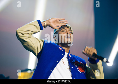 Nas performing in Chicago on November 14, 2012. MAX HERMAN/ALAMY - Stock Photo