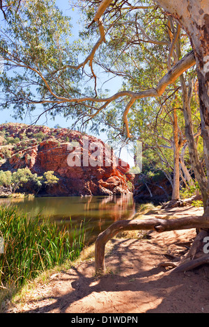 Ellery Creek Big Water Hole Western MacDonnell Ranges Central Australia - Stock Photo