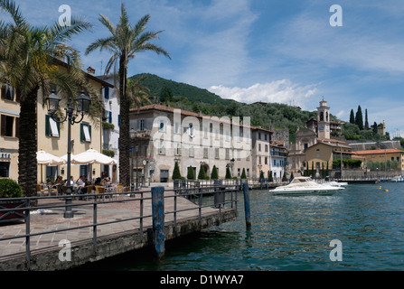 the village of Riva di Solto on Lake Iseo, Lombardy, Italy - Stock Photo