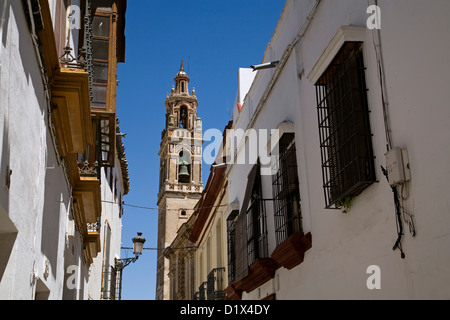 Santa Cruz Church Ecija Sevilla Andalusia Spain - Stock Photo