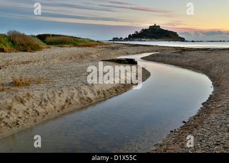 St Michael's Mount; Marazion; Cornwall; UK - Stock Photo