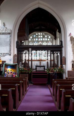 St. Edmund`s Church, Maids Moreton, Buckinghamshire, England, UK - Stock Photo