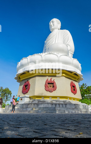 Giant Buddha Statue, Long Son Pagoda. Nha Trang, Vietnam - Stock Photo
