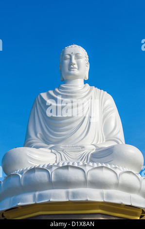 Giant Buddha Statue, Long Son Pagoda. Nha Trang, Vietnam - Stock Photo