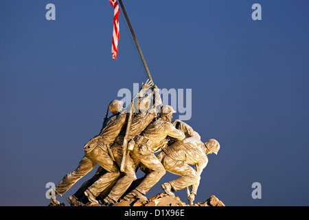 Iwo Jima Memorial (U.S. Marine Corps War Memorial), Arlington, Virginia (Washington, DC) USA - Stock Photo