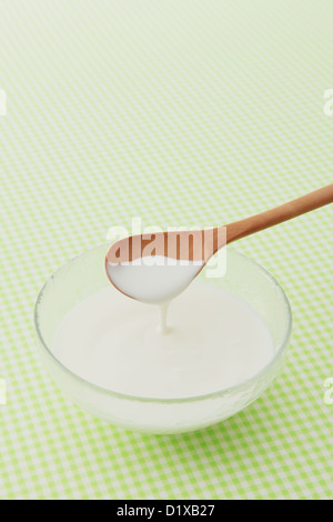 Caspian Sea yogurt - Stock Photo