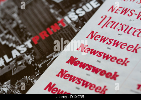The final print edition of Newsweek magazine.  - Stock Photo