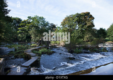 Bamford Cotton Mill on the River Derwent in the Peak District - Stock Photo