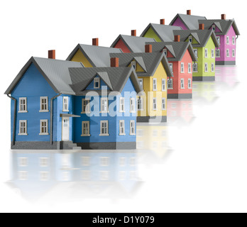 Houses in a vertical row - Stock Photo