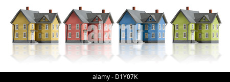 Houses in a row - Stock Photo