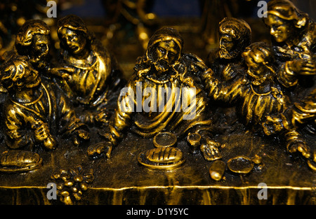Last Supper of Jesus Christ (Holy Communion) Shared with Apostles Handcraft - Stock Photo