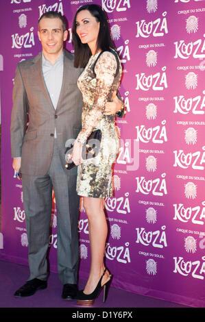 London, UK - 8 January 2013: linzi stoppard arrives at the European premiere of Cirque du Soleil's latest show KOOZA - Stock Photo