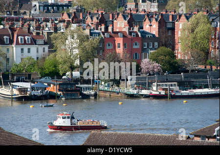 River Thames Chelsea London - Stock Photo