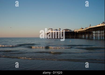 Brighton Pier, low tide, morning