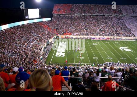Spartan Stadium at Michigan State University in East Lansing, Michigan, USA. - Stock Photo