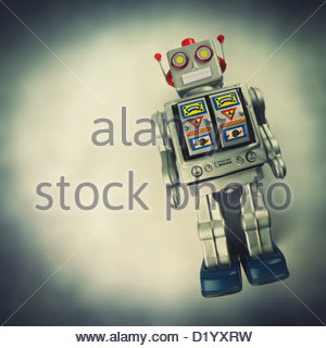 vintage tin robot - Stock Photo