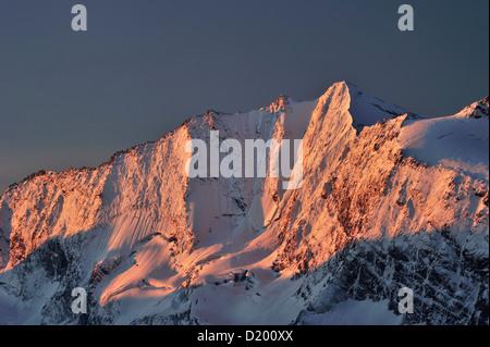 Hochfeiler, Zillertal Alps, Zillertal, Tyrol, Austria - Stock Photo