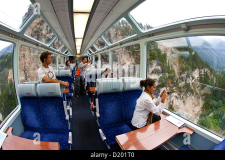 glacier express train inside view near andermatt canton uri winter stock photo royalty free. Black Bedroom Furniture Sets. Home Design Ideas