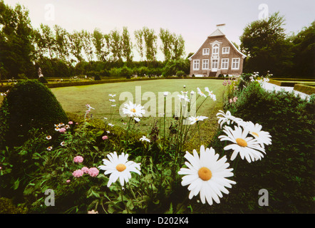 Rueschhaus moated castle, Nienberge, Muenster, Muensterland, North Rhine-Westphalia, Germany, Europe - Stock Photo