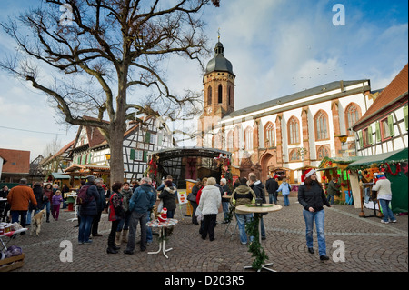 Christmas market, Kandel, Rheinland-Pfalz, Germany - Stock Photo