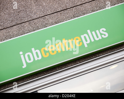 Sign on Job Centre Plus Government Employment Exchange for job seekers Northallerton North Yorkshire UK - Stock Photo