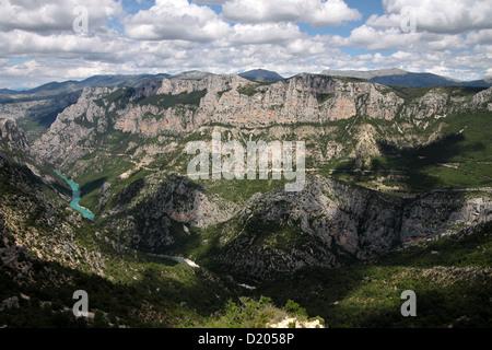 Verdon gorge near Aiguines in Provence, France - Stock Photo