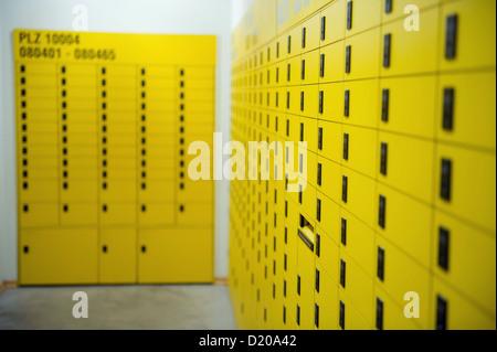 Berlin, Germany, Deutsche Post Postschliessfaecher - Stock Photo