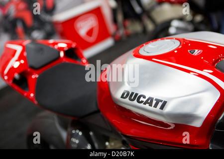 Ducati motorcycles on display at the Washington Motorcycle Show. - Stock Photo
