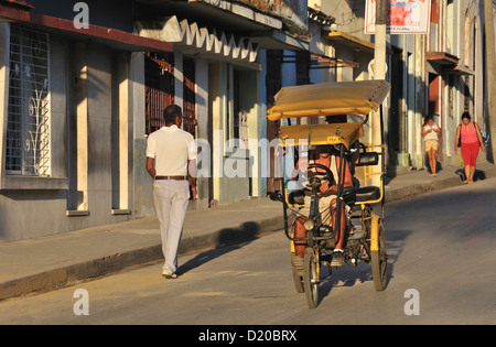 Street in Santa Clara, Cuba - Stock Photo
