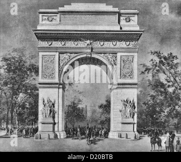 The Washington Memorial Arch, North Washington Square and Fifth Avenue, New York City, Formally dedicated April - Stock Photo