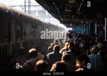 New Delhi Raliway Station, New Delhi, India - Stock Photo