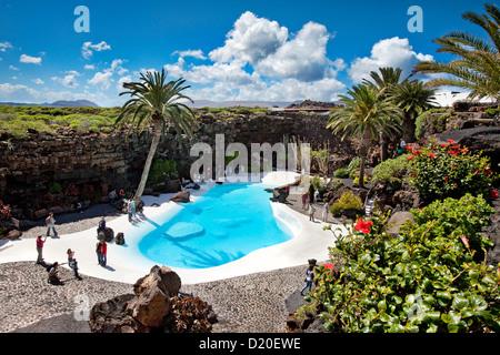 Jameos del Agua, architect Cesar Manrique, Lanzarote, Canary Islands, Spain, Europe - Stock Photo