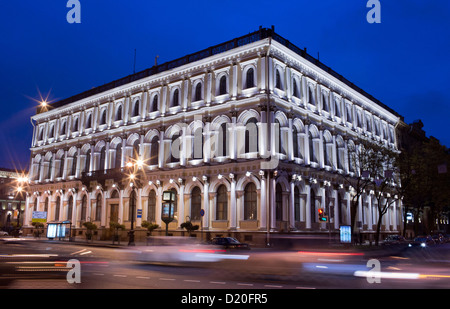 Historic buildings are pictures during the blue hour in Saint Petersburg, Russia, 18 October 2012. The entire historic - Stock Photo