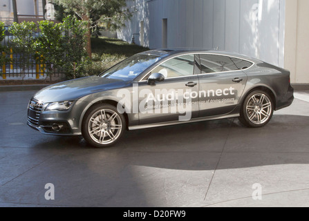 HANDOUT - An undated handout picture shows an a car by manufacturer Audi during the so-called 'piloted parking'. - Stock Photo