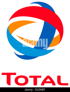 Logo of the French mineral oil company Total with seat in Courbevoie.